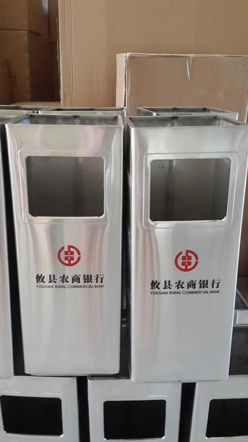 湖南攸县农行不锈钢垃圾桶