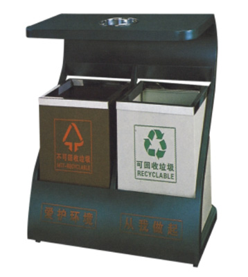 Z字型户外钢制垃圾桶