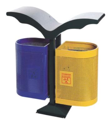 V型户外分类钢制垃圾桶