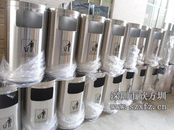 不锈钢圆形垃圾桶入驻龙华人民医院