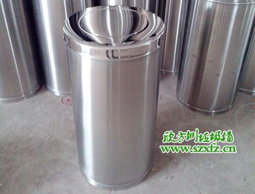 龙华人民医院再次采购斜口翻盖不锈钢垃圾桶
