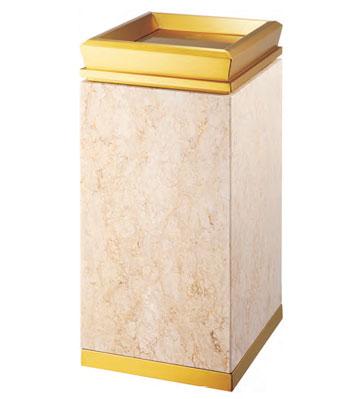 酒店大堂钛金垃圾桶