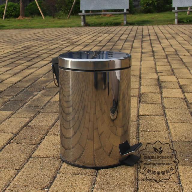 不锈钢脚踏式垃圾桶制作原理