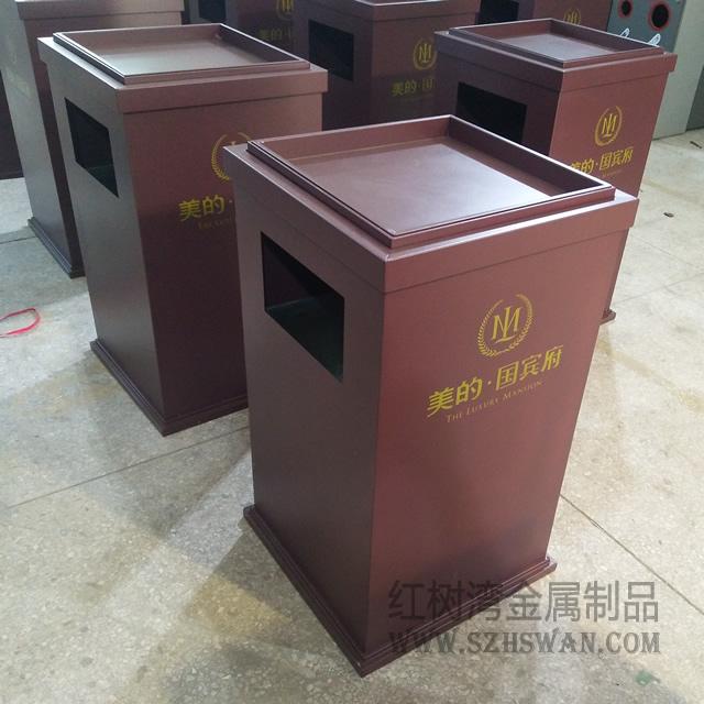 酒店常用室内不锈钢方形垃圾桶生产商