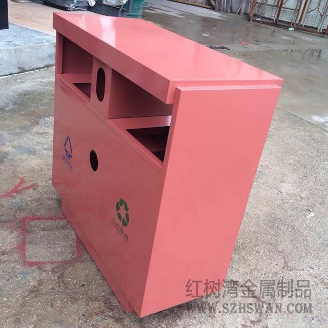 深圳福田橘红色户外分类不锈钢垃圾桶采购项目