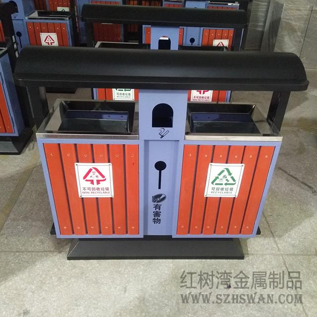 惠州植物园采购户外分类钢制垃圾桶项目