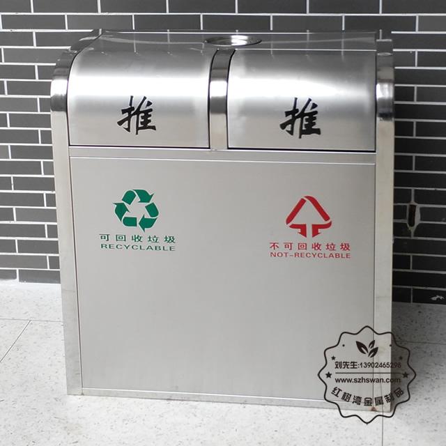 双筒不锈钢垃圾桶价格