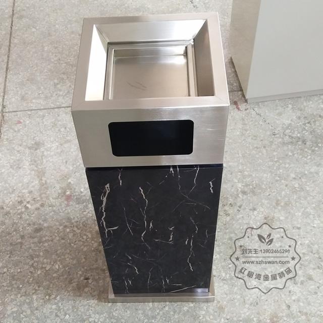 酒店用方不锈钢垃圾桶