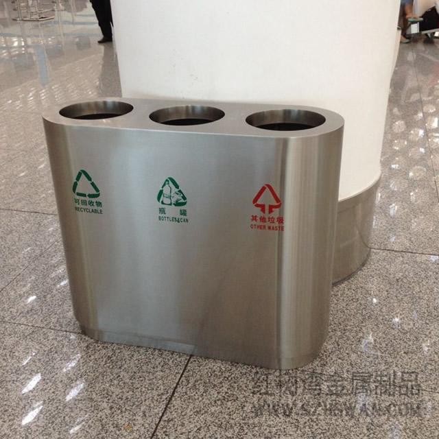 各种系列不锈钢垃圾桶产品图片