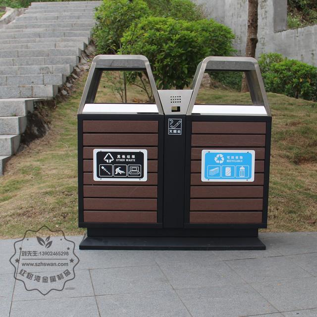公园钢木垃圾桶详细先容