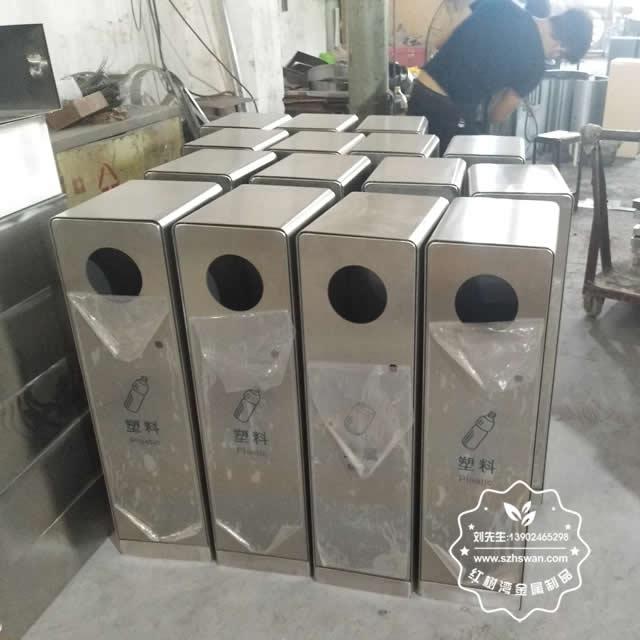 不锈钢垃圾桶常用的三种工艺