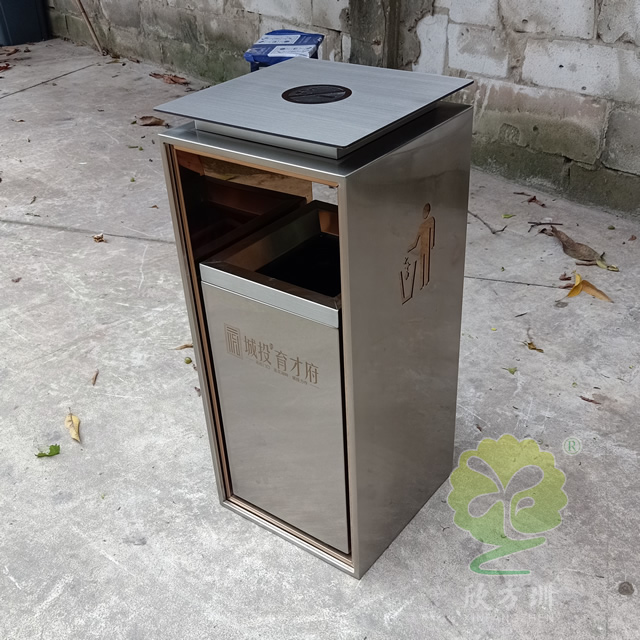 不锈钢工艺垃圾桶