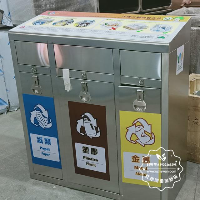 广东和浙江的不锈钢垃圾桶的区别?