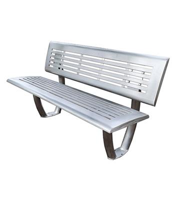 步行街道不锈钢靠背休闲椅