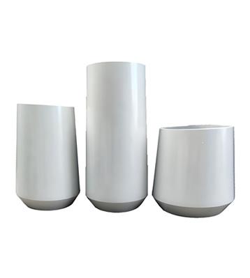 组合式喷塑白色不锈钢花盆花钵